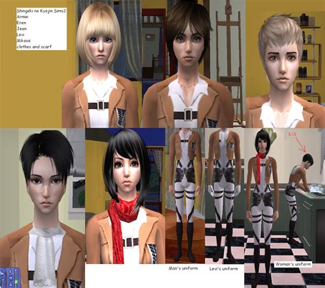 attack on titan sims 3 hair sims 2 attack on titan sims download by cinzia chan on