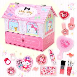 Preschool Area Rugs Hello Kitty House Shaped Kids Cosmetic Set Girls Christmas