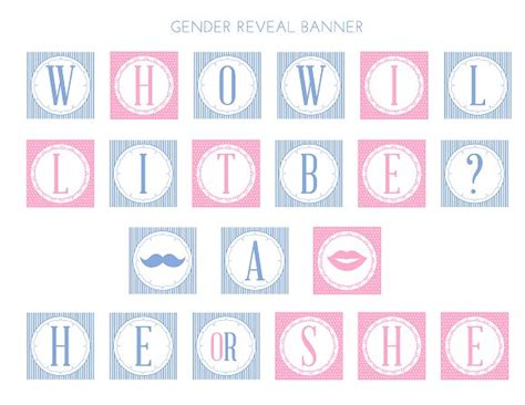 printable gender reveal banner free gender reveal baby shower party printables from