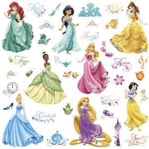 Disney Princess Wall Stickers disney princess royal debut peel and stick wall decals