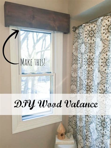 window ideas avalon sew window cornice decorating kitchen diy wood valance an inexpensive and easy window