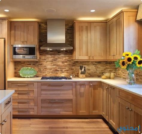 wood top kitchen island 2018 تصميمات مطابخ خشمونيوم 2019 موقع محتوى