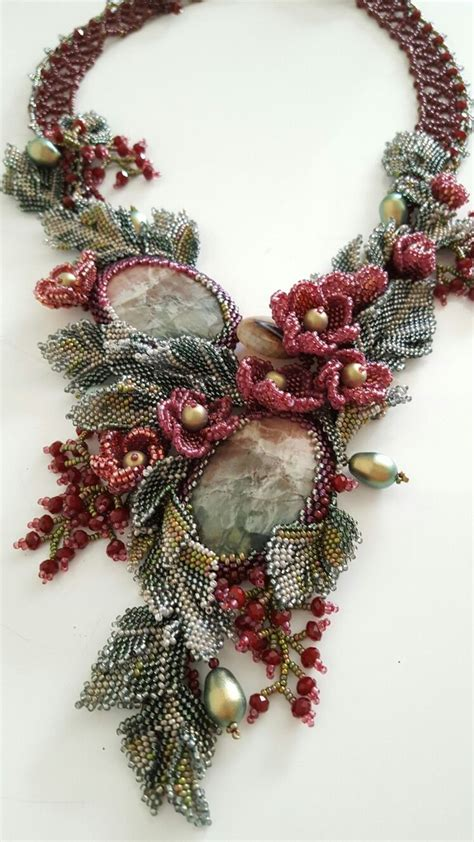 beaded flower 3995 best beaded necklace images on bead