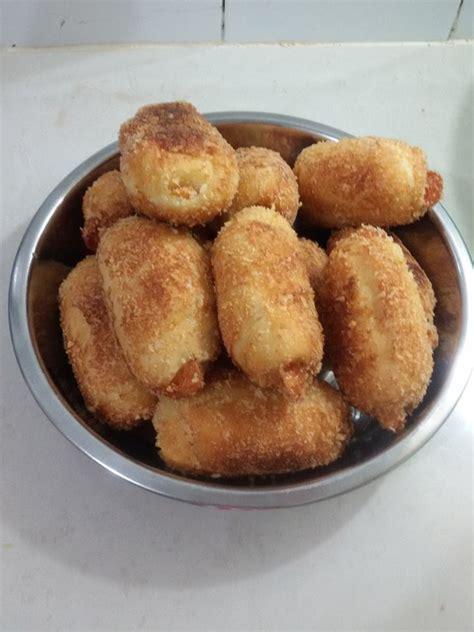 resep membuat roti goreng dan cakwe resep roti goreng isi daging ayam dan sosis keju ala bunda