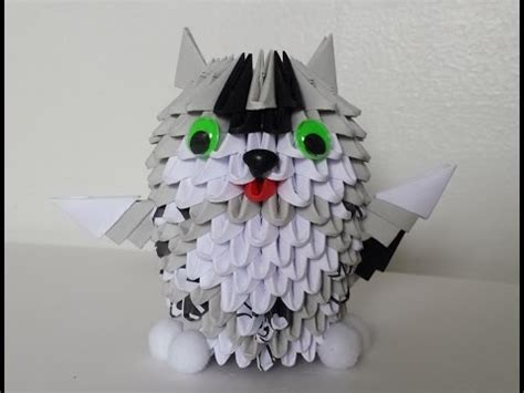 How To Make A 3d Origami Cat - how to make 3d origami small cat