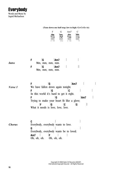 strumming pattern for trading my sorrows everybody sheet music by ingrid michaelson ukulele with