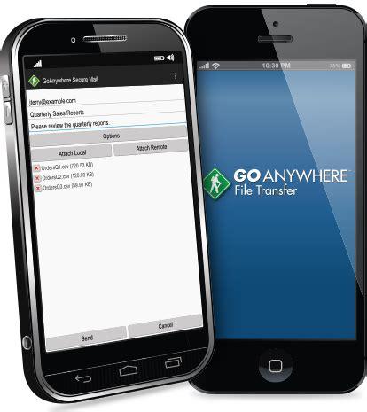 mobile file transfer file transfer mobile app goanywhere mft