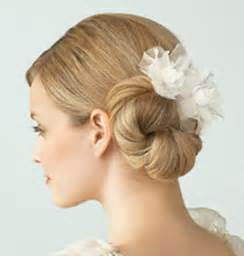 Wedding Hair Side Bun With Flower by Brides And Bridesmaids Wedding Hair Gallery 3