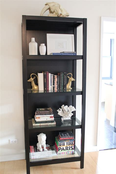 decorating bookshelves black bookcase design ideas