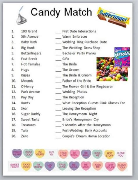 sweet themed quiz baby shower candy bar games baby shower ideas