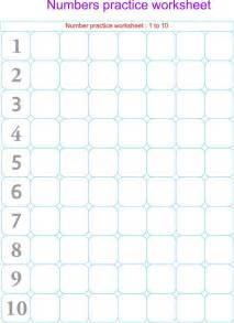 numbers practice worksheets 1 10