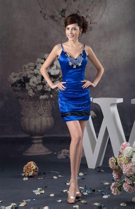 electric blue inexpensive bridesmaid dress beach summer