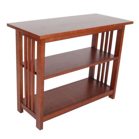 Bookshelf Ladder Alaterre Furniture Mission Cherry Open Bookcase Amia1460