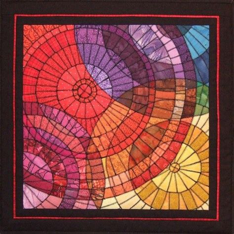 mosaic pattern circles 17 best images about dark rainbow quilts on pinterest