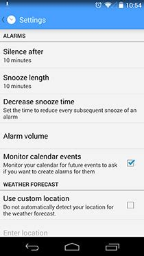 alarm app for android alarmpad customizable context based alarm clock app for android