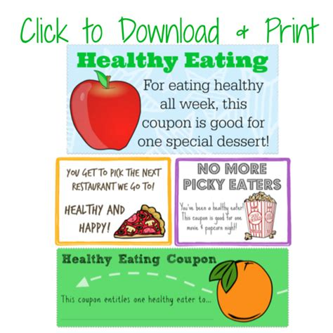 healthy food printable coupons making healthy choices free printable lunchbox notes and