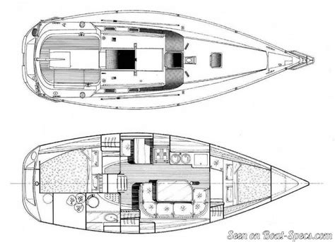 sailboat layout oc 233 anis 320 fin keel b 233 n 233 teau sailboat specifications