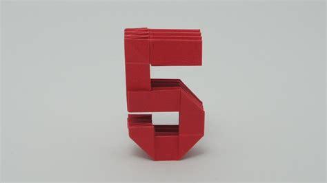 Origami Number - origami number 5
