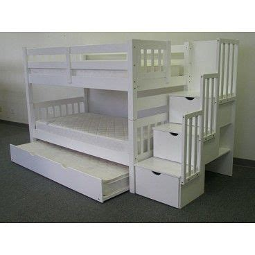 3 bunk beds with stairs bunk trundle with stairs perfect my 7 year old son s