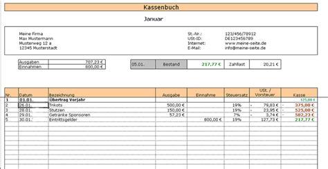 Kostenlose Vorlage Kassenbuch Kassenbuch Kostenlos Bei Nowload