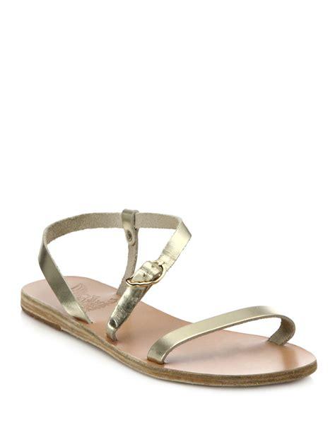 ancient sandal ancient sandals niove metallic leather asymmetrical