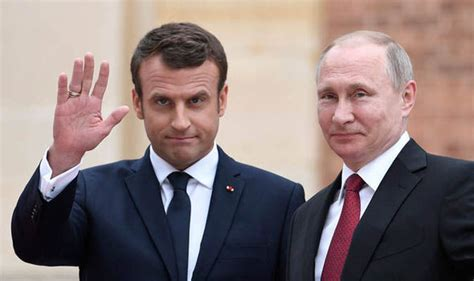 emmanuel macron russia emmanuel macron and vladimir putin ready for meeting today