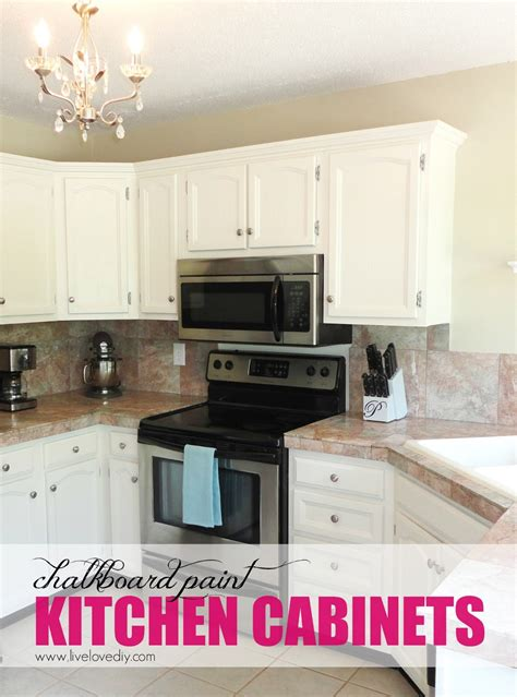 white chalk paint cabinets livelovediy the chalkboard paint kitchen cabinet makeover