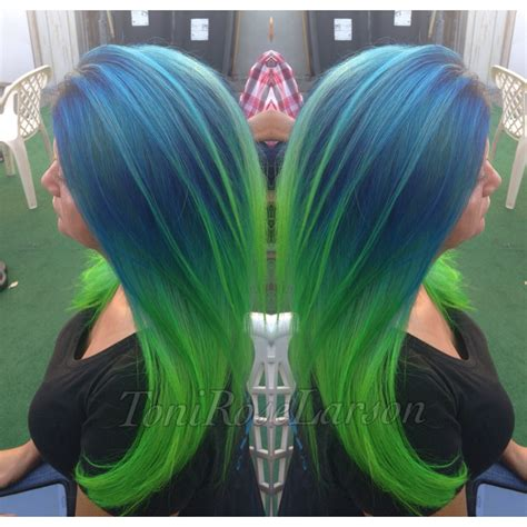 purple and green make what color how to blue green colormelt hair color modern salon