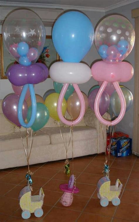pacifier balloons baby shower ideas - Balloon Pacifier For Baby Shower