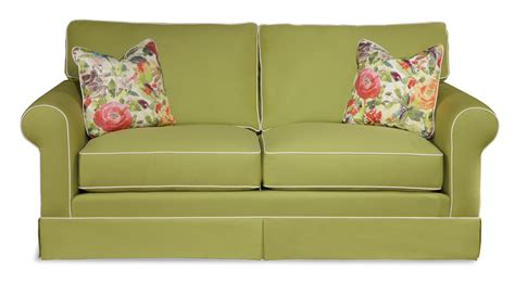 sofa with skirted base traditional sofa with rolled arms and skirted base by