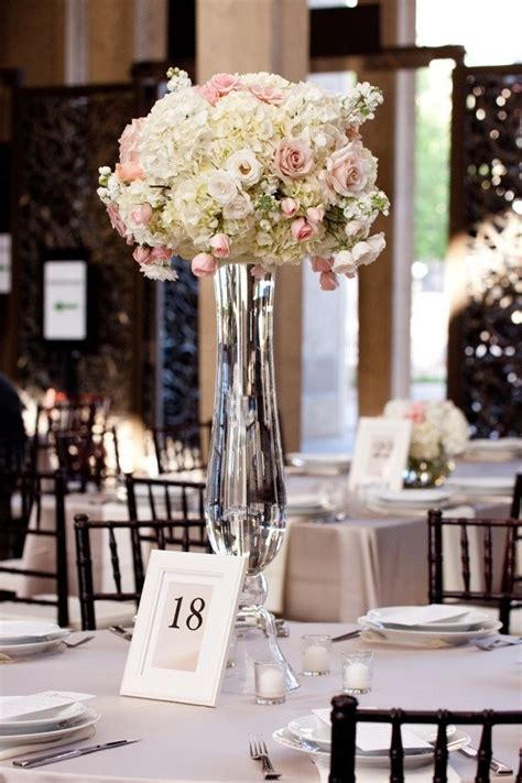 Clear Vase Centerpiece Ideas by Clear Trumpet Floral Vase Wedding Centerpiece Receptions