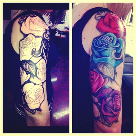 colourful rose tattoo best 25 colorful tattoos ideas on 3d