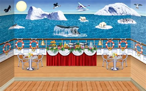cruise themed decorations arctic cruise ship insta theme backdrop backgrounds props