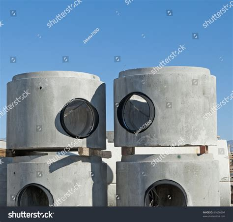 concrete chamber sections concrete manhole chamber sections stock photo 61626694