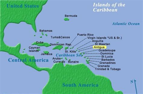map of antigua and barbuda antigua snorkeling on clear waters
