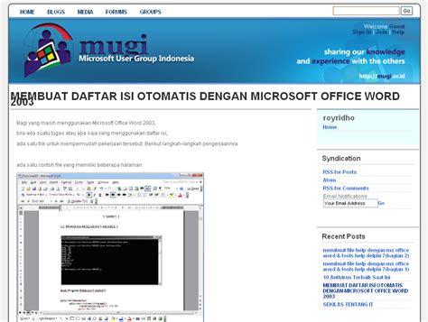 membuat daftar isi otomatis word 2010 pdf membuat daftar isi otomatis di microsotf word album