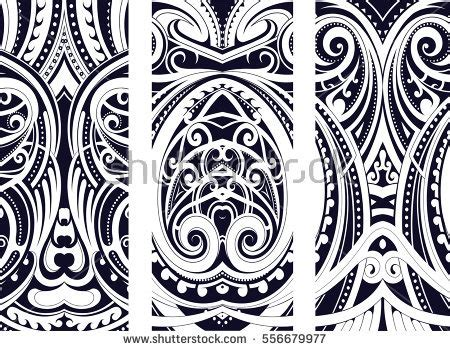 body tattoo vector set maori style ornaments ethnic themes stock vector