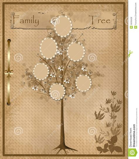 Family Tree Design For Your Photos Into Frames Royalty Free Stock Photos Image 36336428 Vintage Family Tree Royalty Free Stock Images Image 32018779