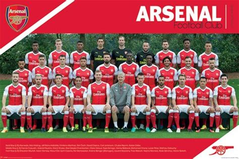 Wall Paper Murals For Sale team photo 2016 2017 arsenal fc poster buy online