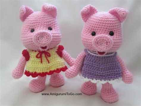 pattern amigurumi pig dress up pigs free pattern amigurumi to go
