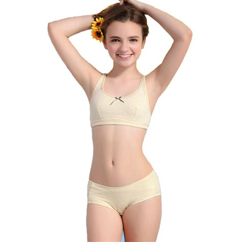 preteen lingerie wholesale wofee 2015 girls puberty underwear sets dot