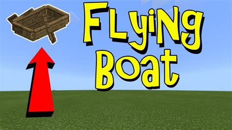 minecraft flying boat command working flying boat minecraft pe pocket edition mcpe