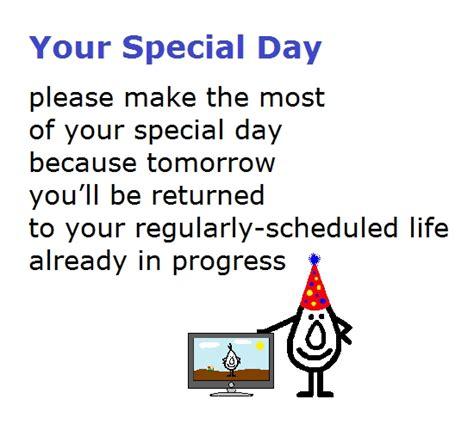 Special Day Funny  Ee  Birthday Ee   Poem Free Happy  Ee  Birthday Ee