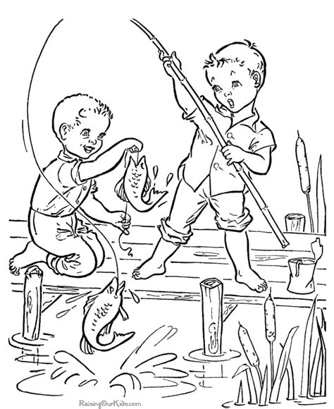 Book Coloring Pages Printable fish coloring book pages coloring home