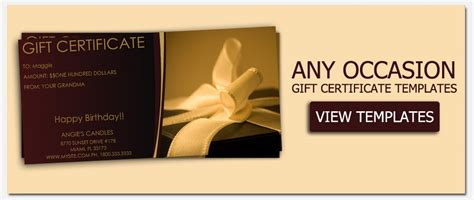 custom gift card template gift certificate templates to make your own certificates