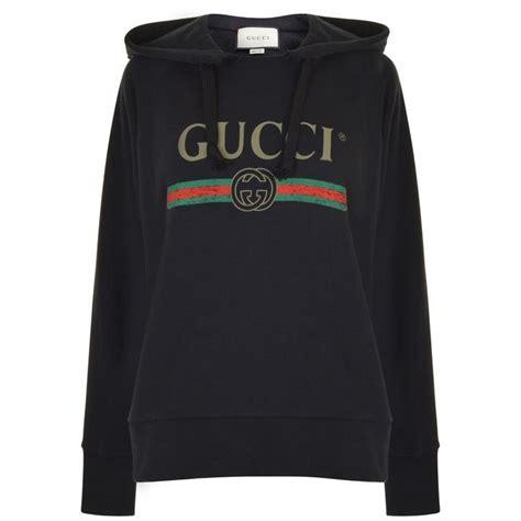 Hoddie Gucci gucci embroidered hooded sweatshirt