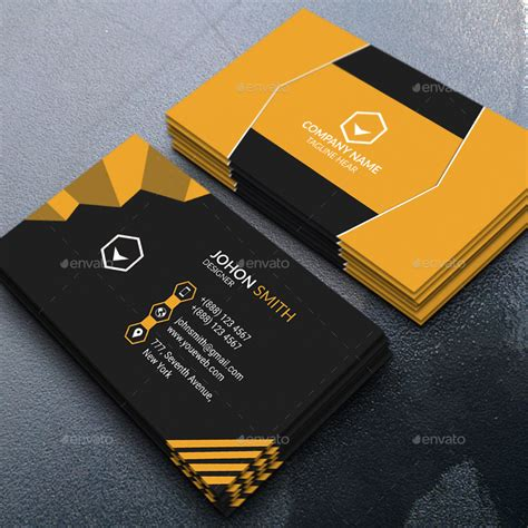 modern business cards templates modern business card by saiful islam graphicriver