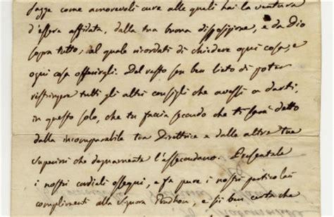 lettere di manzoni archivio capitolare di pistoia alessandro manzoni