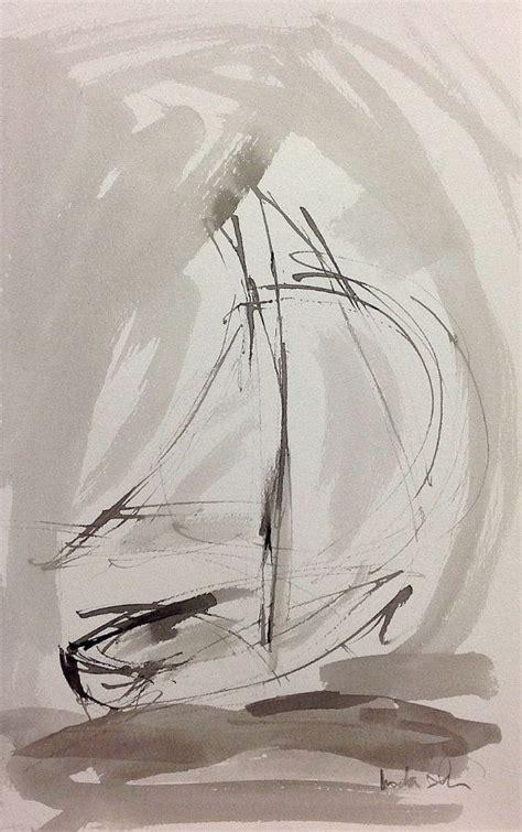 minimalist boat drawing minimalist abstract sailboat ink painting racing by