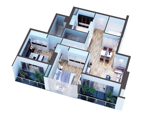 model modern interior house cutaway  model